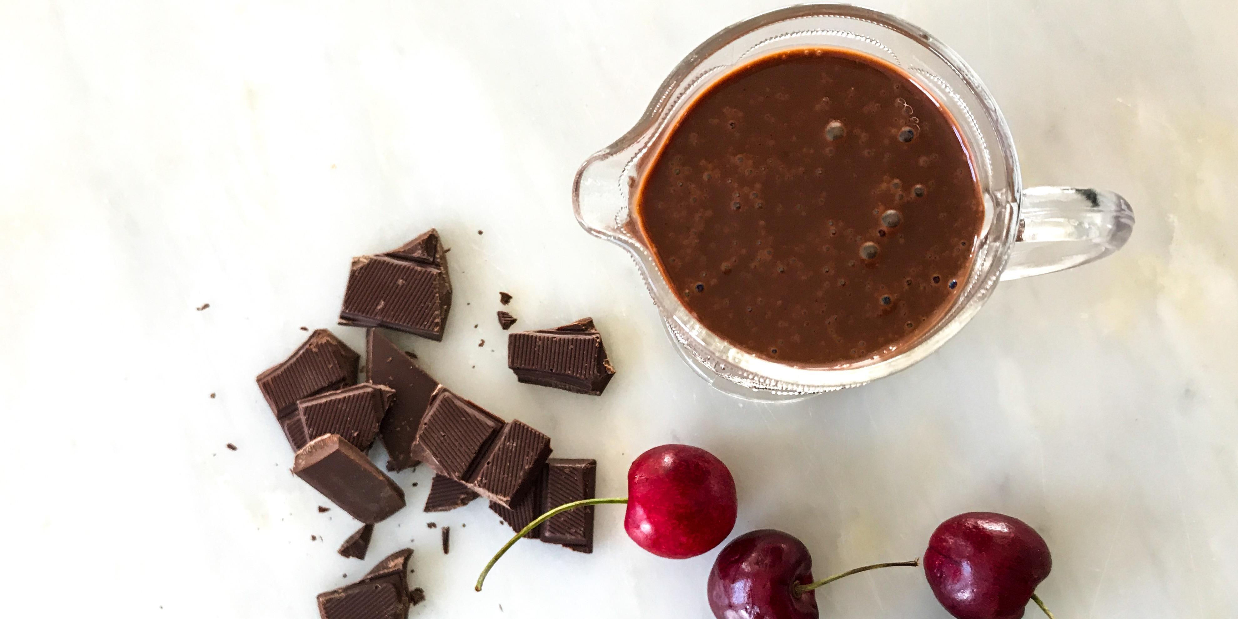 chokladsås med blockchoklad